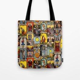 The Major Arcana Tarot Collage Tote Bag