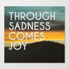 Sadness and Joy Canvas Print