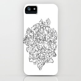 Pen & Ink Escher Puzzle iPhone Case