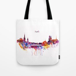Zurich Skyline Tote Bag