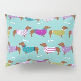 Dachshund sweaters cute gifts for dog lover pet friendly dog breed dachsie doxie dogs Pillow Sham