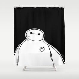 Baymax from Big Hero 6 Shower Curtain