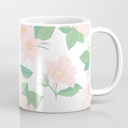 Summer Days Pink Floral Print Coffee Mug