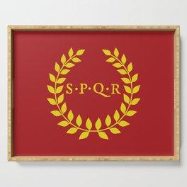 SPQR logo Serving Tray