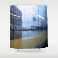 philadelphia Shower Curtains featuring Philadelphia Rain by Ashlee Sekulich