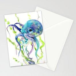 Underwater Scene Design, Octopus Stationery Cards
