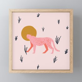 trot cat Framed Mini Art Print