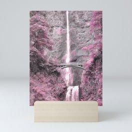 PRETTY IN PINK - MULTNOMAH FALLS Mini Art Print
