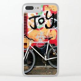 Joy & bike Clear iPhone Case