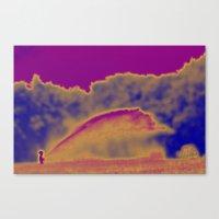 wiz khalifa Canvas Prints featuring Big Wiz by Linda Tomei