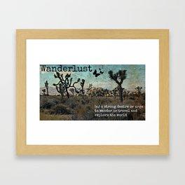 Wanderlust Inspirational Travel Quote  Framed Art Print