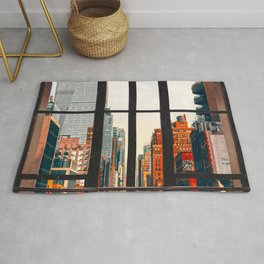 New York City Window #2-Surreal View Collage Rug