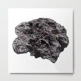 Glitched Meteorite Metal Print