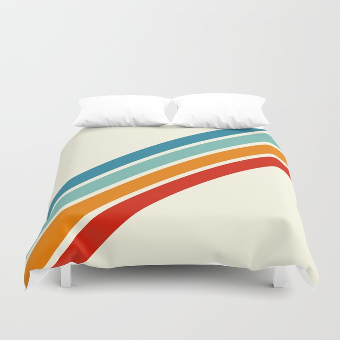 Alator - Classic 70s Retro Summer Stripes Bettbezug