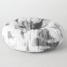 Black and Grey Marble Natural Stone Veining Quartz Floor Pillow