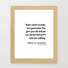6     | Simone De Beauvoir Quotes | 190605 Framed Art Print