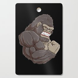 Gorilla At The Gym   Fitness Training Muscles Cutting Board