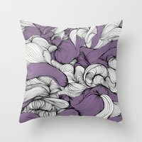 fabric Throw Pillows featuring Lavender Fabric by DuckyB