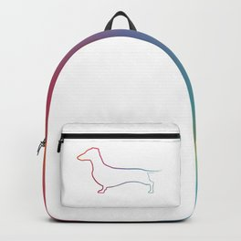 Rainbow Dachshund Sketch Backpack
