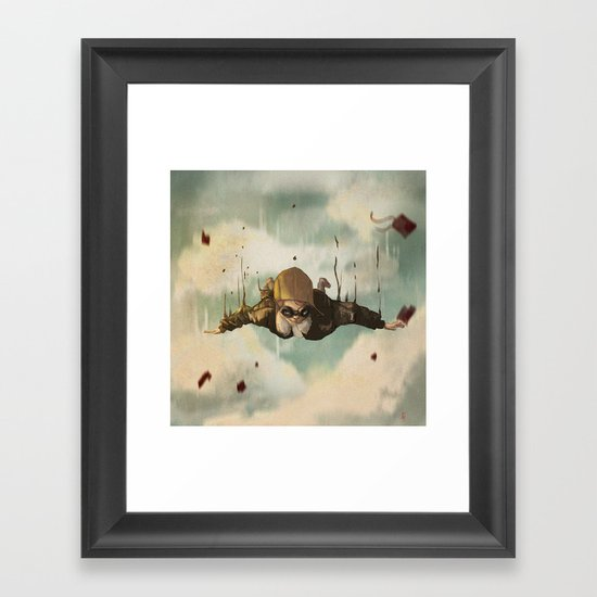 -Plane  crasH- Framed Art Print