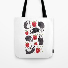 Badgers and Strawberries Tote Bag