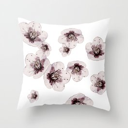 Hana Collection - Falling Sakura Throw Pillow