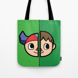 Old & New Animal Crossing Villager Comparison Tote Bag