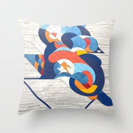 Sao Paulo urban wall Throw Pillow