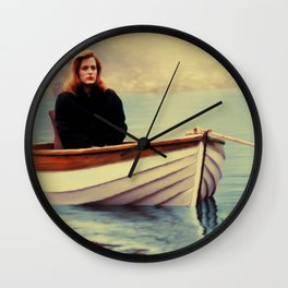 One Breath painting Wall Clock