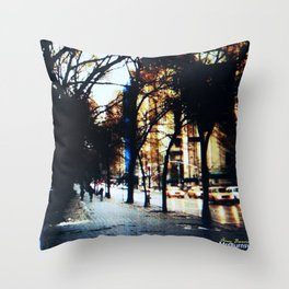 New York City Yellow Cabs Throw Pillow