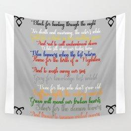 Shadowhunter rhymes Wall Tapestry