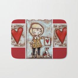 Work of Heart by Diane Duda Bath Mat