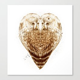 Owl Heart Canvas Print