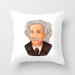 My preferred Genius,  a illustration of the biggest physicist  Albert Einstein. Throw Pillow
