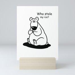 Who Stole My Ice? Mini Art Print