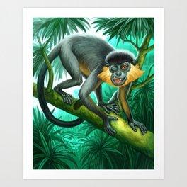 Monkey for Tiger Stripes Art Print