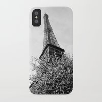 eiffel tower iPhone & iPod Cases featuring Eiffel Tower by Msimioni