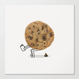 The Making of Chocolate Chips Canvas Print