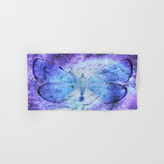 Celestial Butterfly Violet Blue Hand & Bath Towel