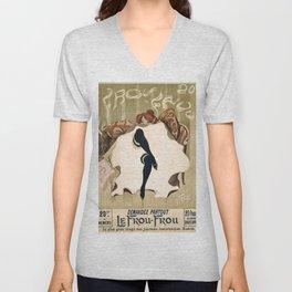 Vintage French poster - Weiluc - Le Frou-Frou Unisex V-Neck
