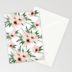 Pink bouquet. Watercolor Stationery Cards