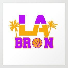 LA Bron Los Angeles Palm Tree Art Print