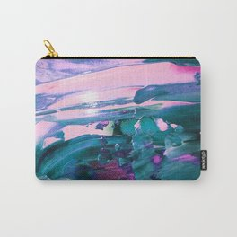 Teal and Pink Paint Carry-All Pouch