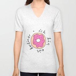 ich bin ein berliner // i am a donut Unisex V-Neck