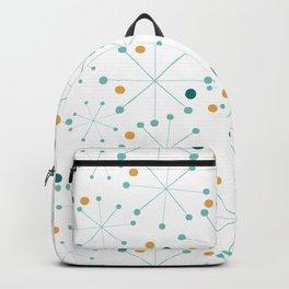 Mid-Century Modern Art Atomic StarDots Pattern 1.0 Backpack