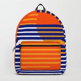 Orange Split Sun Backpack