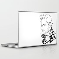 liam payne Laptop & iPad Skins featuring Typographic Liam by Ashley R. Guillory