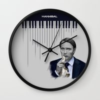 hannibal Wall Clocks featuring Hannibal by firatbilal