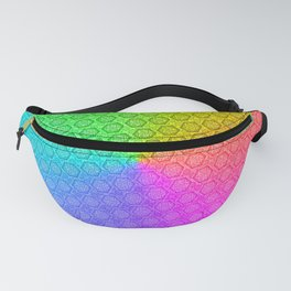 d20 Prismatic Spray Critical Hit Pattern Fanny Pack