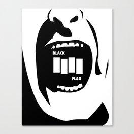 Black Flag Rollins Scream Canvas Print